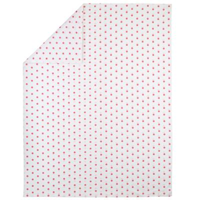 Pink Polka Dot Duvet Cover (Twin)