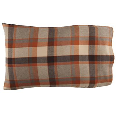 Brown Plaid Flannel Pillowcase