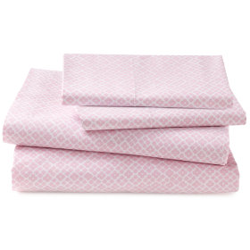 Printed Pink Diamonds Sheet Set