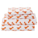 Full Little Prints Sheet Set (Orange Dinosaur)
