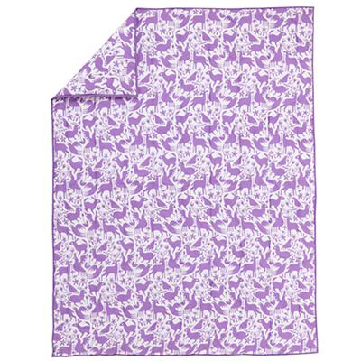 Animales Gráficos Lavender Comforter (Twin)