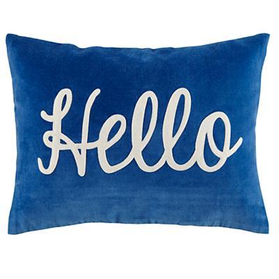 Hello Throw Pillow Cover