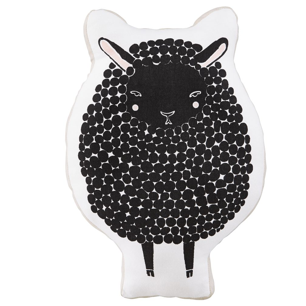 Sheepish Throw Pillow (Black)
