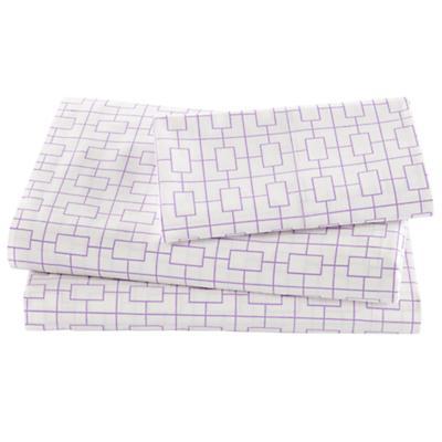 Window Pane Lavender Sheet Set (Twin)