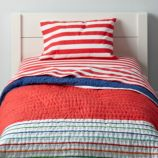 Candy Stripe Toddler Bedding (Red)