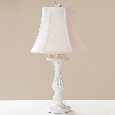 Bird Bath Lamp (White Shade)