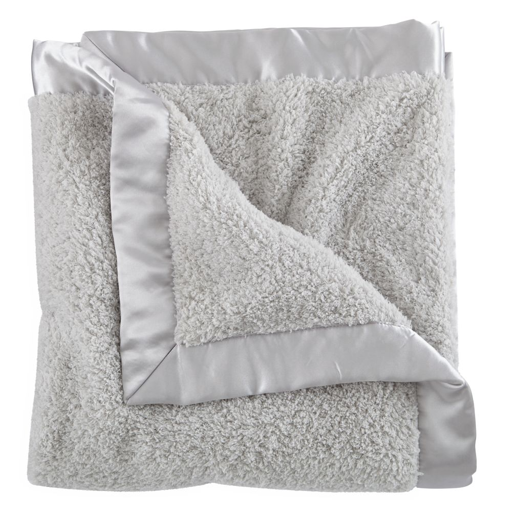 Grey Cuddle Me Softly Baby Blanket