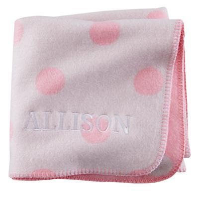 Personalized Pitter Pattern Blanket (Pink Polka Dot)