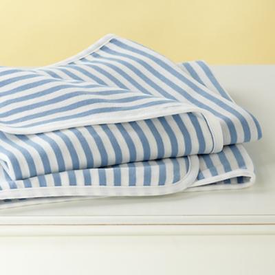 Blue Stripe Organic Blanket