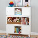 District Storage Bench/Bookcase (White)