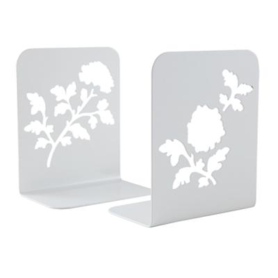 Just Leafing Through White Bookends