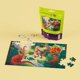 On the Go Dino Puzzle