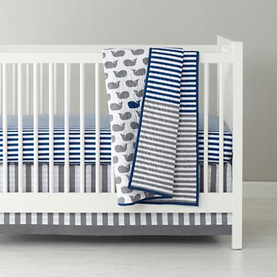 Make a Splash Crib Fitted Sheet (Blue Stripe)