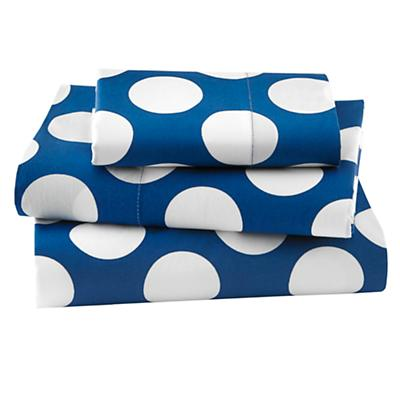 Make a Splash Toddler Sheet Set (Blue w/White Dot)