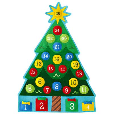 ... Decor: Christmas Tree Calendar Countdown from The Land of Nod $69