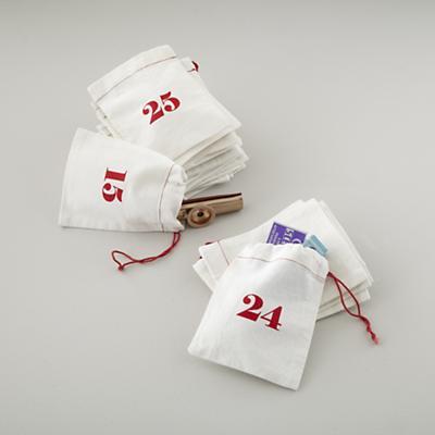 Christmas Countdown Goodie Bags (Set of 25)
