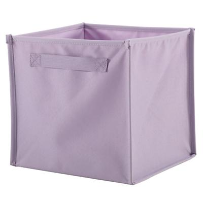 Lavender Canvas Bin