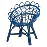 Antoinette Rattan Chair (Navy)