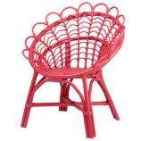 Antoinette Rattan Chair (Pink)