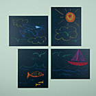 Chalkboard Stick On Decals Set of 4