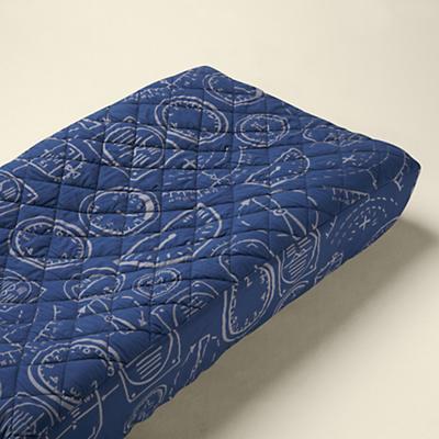 Changer Pad Cover (Dk. Blue Airplane Gauge Print)