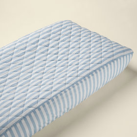 Changer Pad Cover (Lt. Blue Stripe)