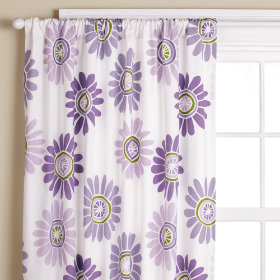 Fresh as a Daisy Curtain Panels (Lavender)