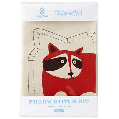 Racoon Pillow Stitch Kit