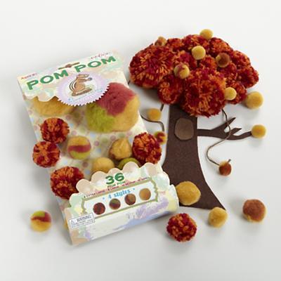 Chipmunk Brown Pom Pom Craft Kit