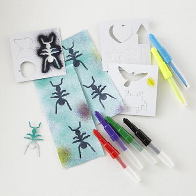 Air Pens and Stencil Set