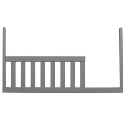Grey Low-Rise Crib Toddler Rail