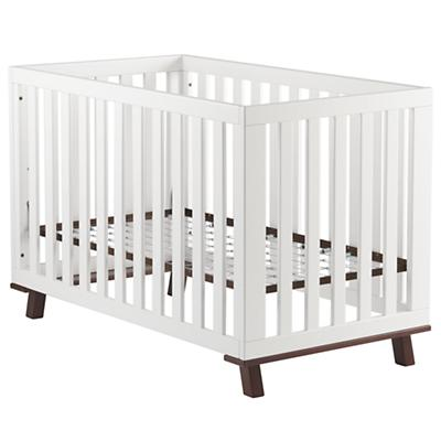 Low-Rise Crib (White Frame w/Espresso Base)