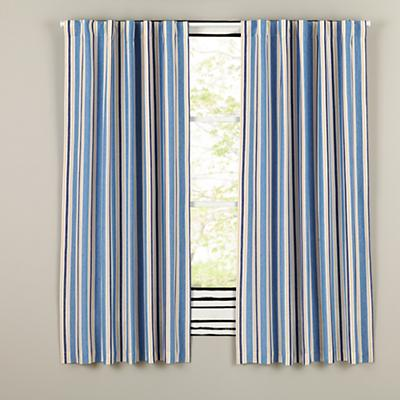 "63"" Side Striped Blackout Curtain"