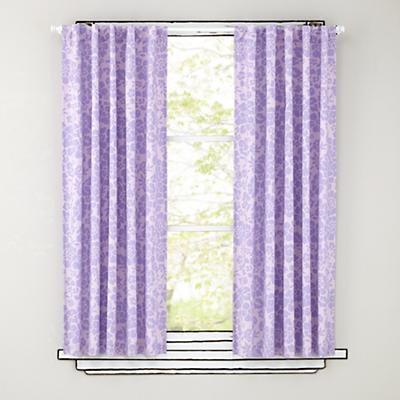"""96"""" Lavender Floral Curtain Panels"""