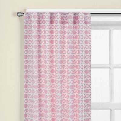 """84"""" Pink Floral Curtain Panel"""
