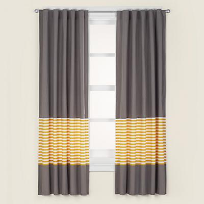 Yellow And Grey Bedroom Curtains