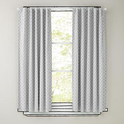 "96"" Grey Polka Dot Curtain Panels"