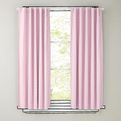 """63"""" Pink Polka Dot Curtain Panels"""