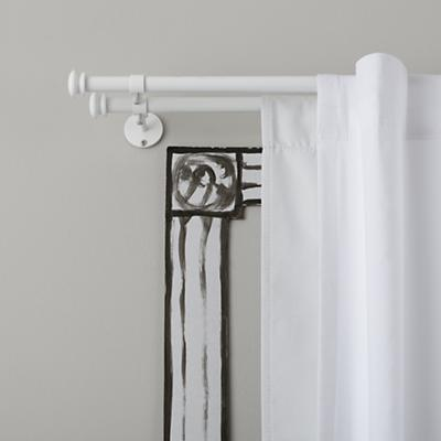 Curtain accessories white button cap double curtain rod the land of