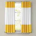 "63""  Yellow Color Edge Curtain Panel (Sold individually)"