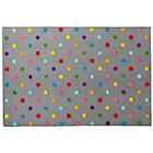 4 x 6' Grey Candy Dot Rug