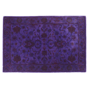 Royal Treatment Overdyed Rug (Purple)