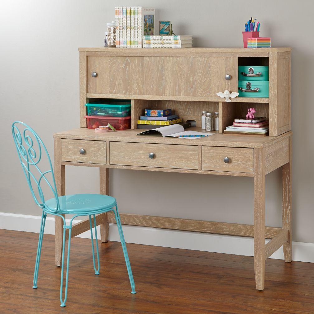 Bayside Desk & Hutch (Whitewash)