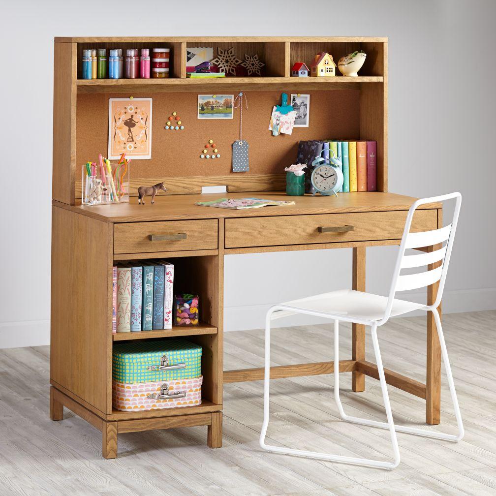 Cargo Desk & Hutch (Natural)