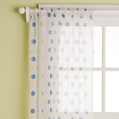 "63"" Dot Curtain Panel (Blue)"
