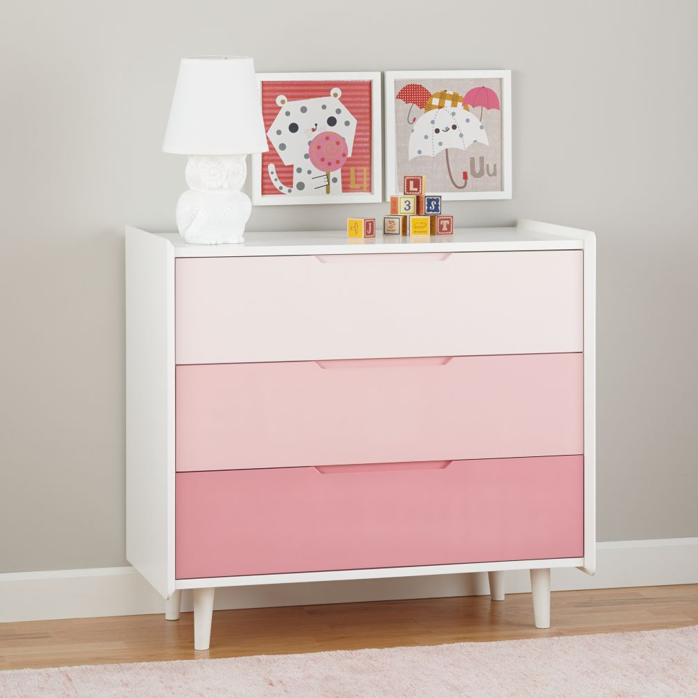 Chromatic 3-Drawer Dresser (Pink)