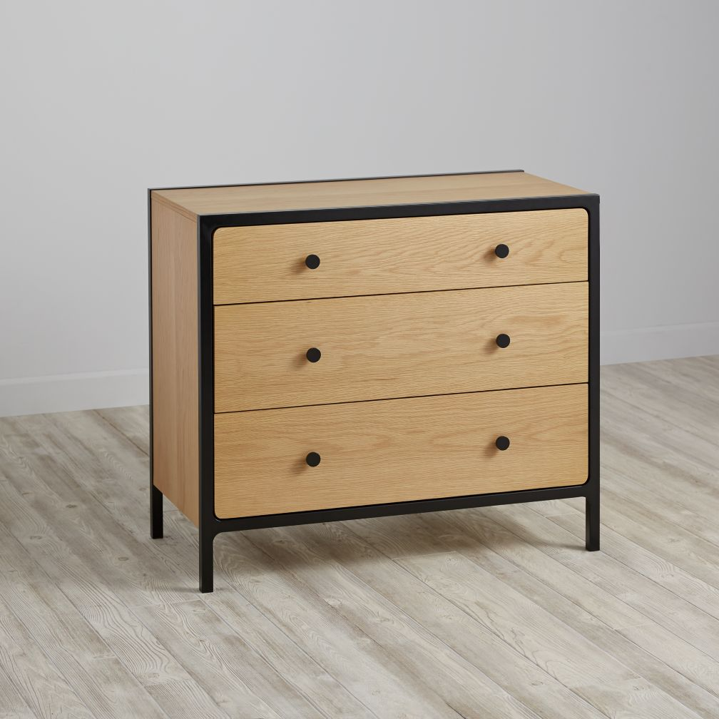 Primary 3-Drawer Dresser (Black)