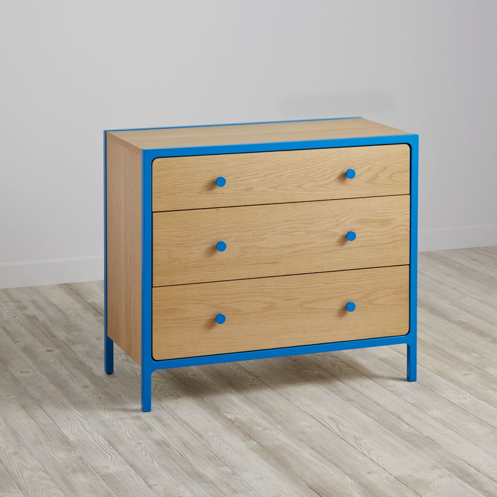 Primary 3-Drawer Dresser (Blue)