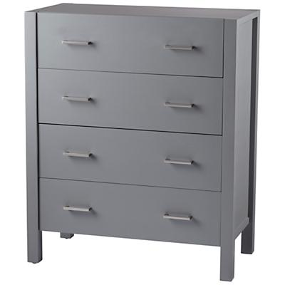 Uptown 4-Drawer Dresser (Grey)