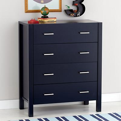 Uptown 4-Drawer Dresser (Midnight Blue)